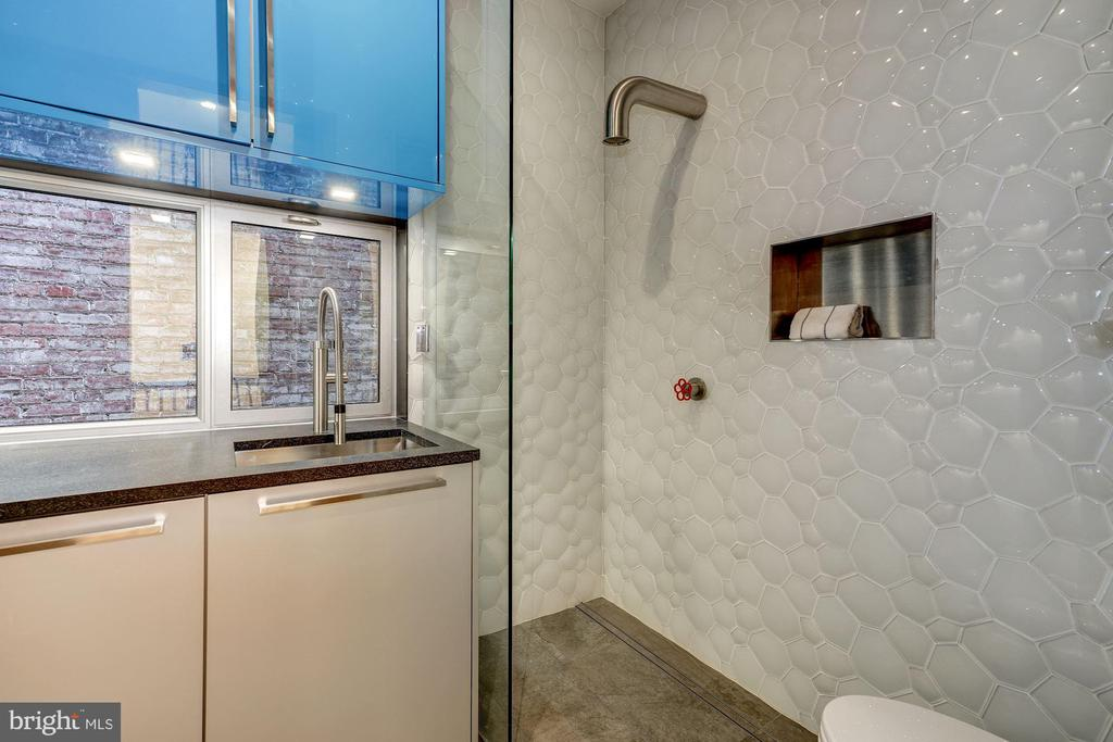 Hall Bathroom Area with Boffi Faucet - 2113 S ST NW, WASHINGTON