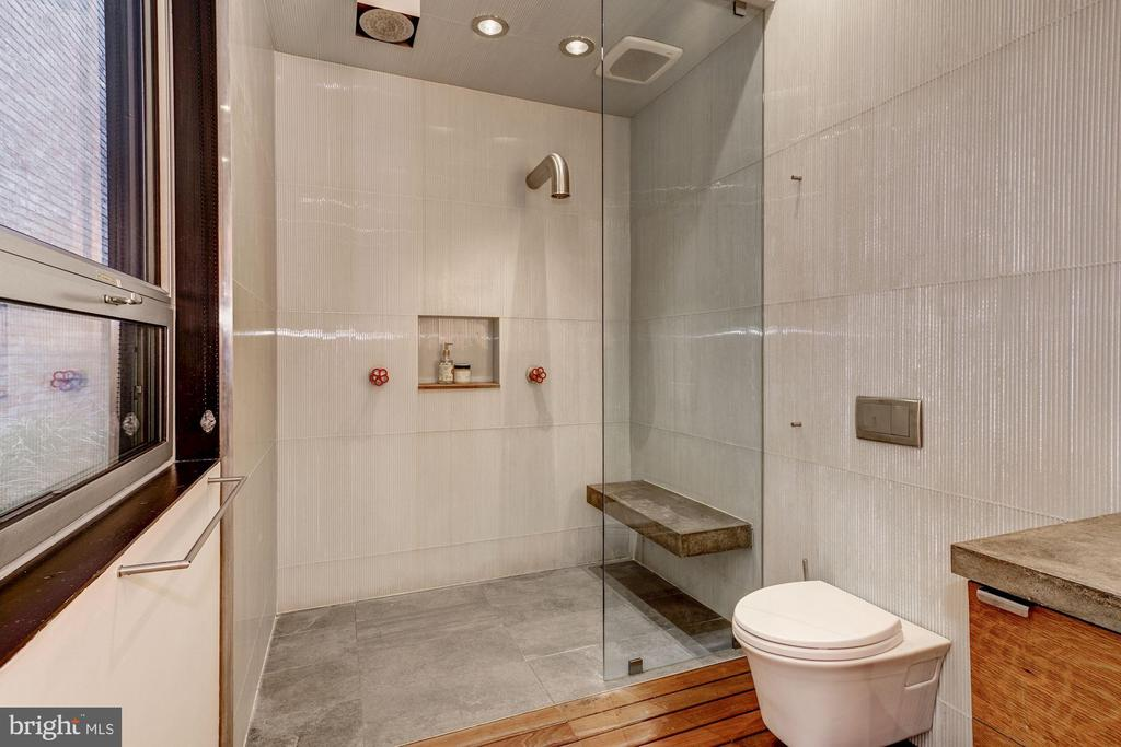 Owners' Bathroom with Rain Shower - 2113 S ST NW, WASHINGTON