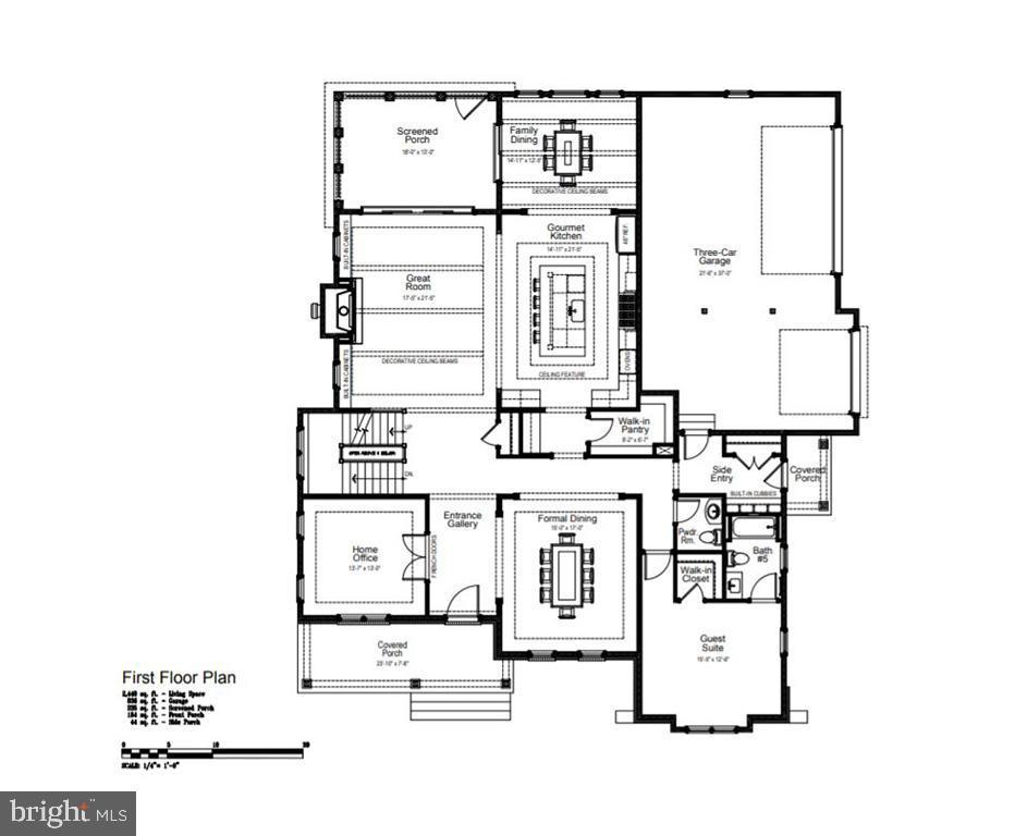 Main Level Floor Plan - 1481 WAGGAMAN CIR, MCLEAN