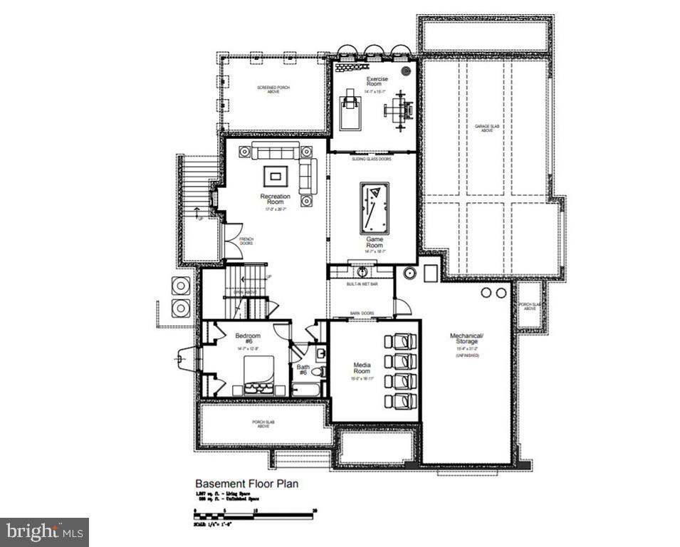 Lower Level Floor Plan - 1481 WAGGAMAN CIR, MCLEAN