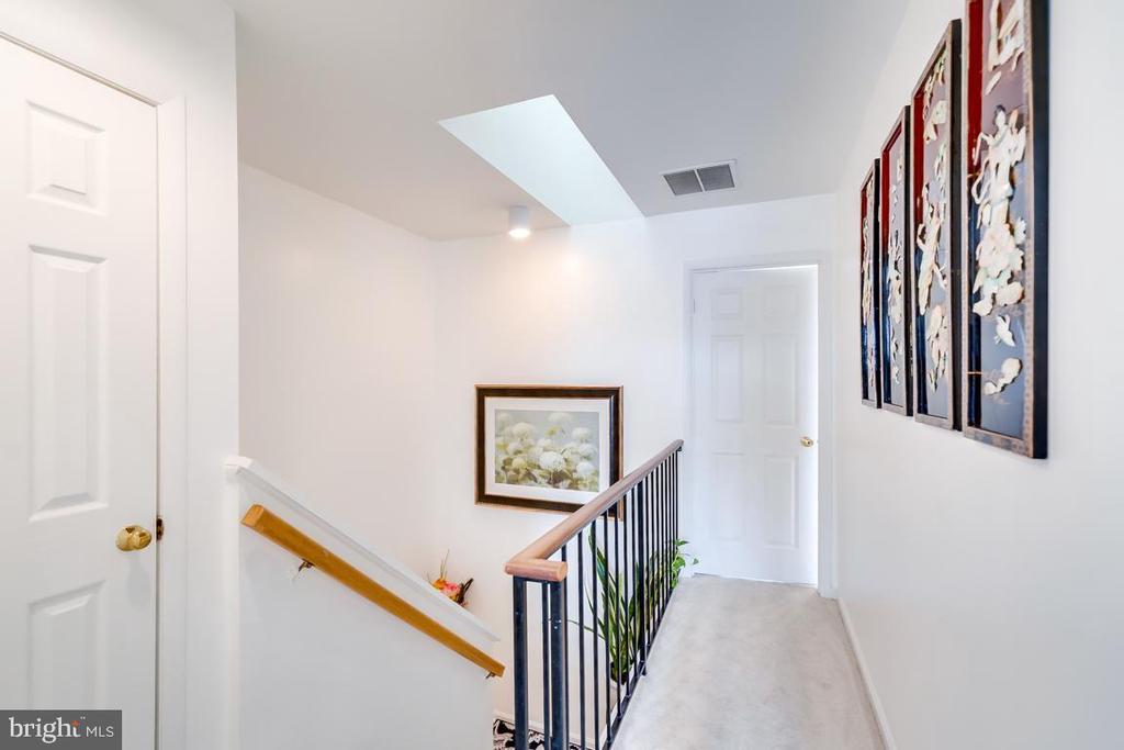 Upper level closet, hallway, skylight - 2037 N CAMERON ST, ARLINGTON