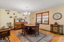 Dining Room with hardwood floors. - 115 GOLD RUSH DR, LOCUST GROVE