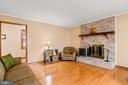 Wood burning fireplace with brick hearth & mantle - 115 GOLD RUSH DR, LOCUST GROVE