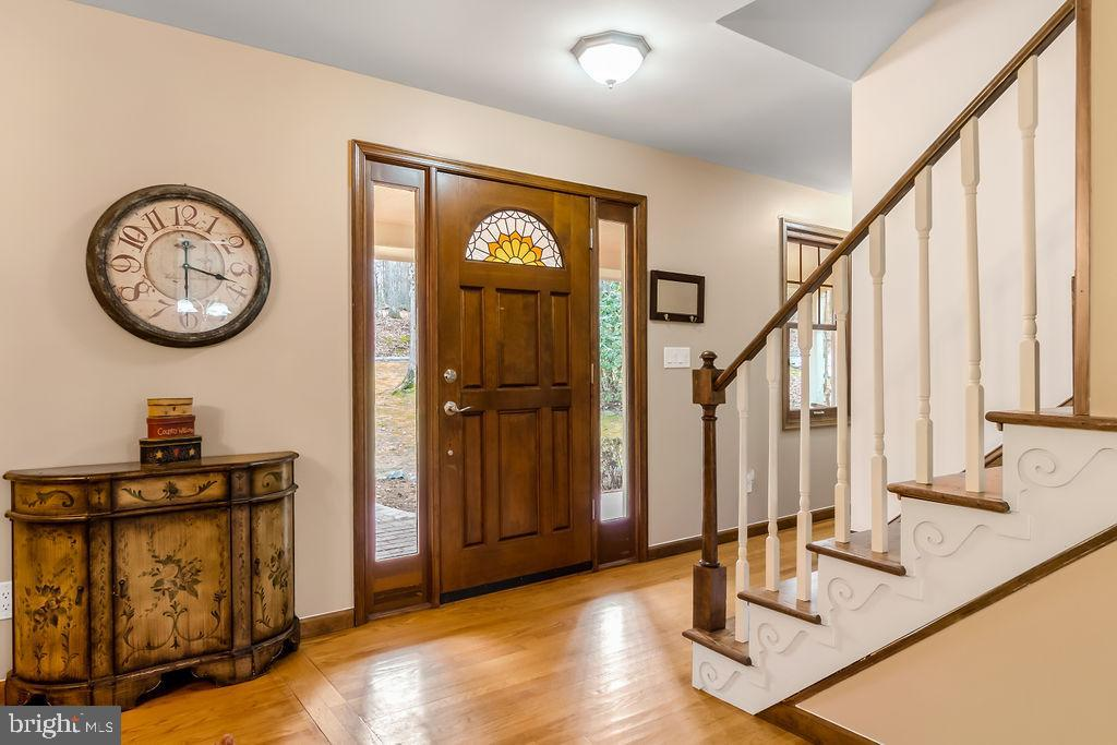 Front door and foyer. - 115 GOLD RUSH DR, LOCUST GROVE