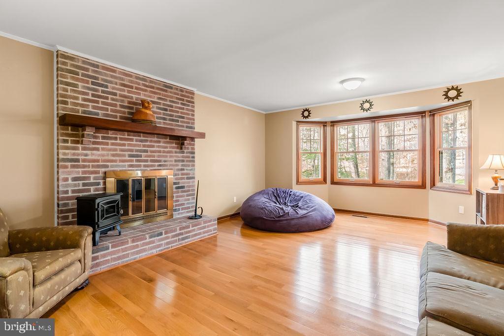 Living Room with bay window overlooking backyard - 115 GOLD RUSH DR, LOCUST GROVE