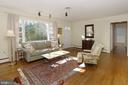 Living Room with picture window and hardwood floor - 9020 SOUTHWICK ST, FAIRFAX