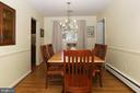 Dining room with hardwood flooring - 9020 SOUTHWICK ST, FAIRFAX