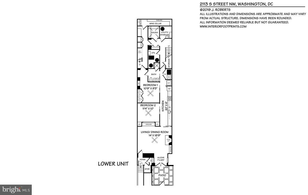 Lower Level 2 Bedroom  In-Law Suite - 2113 S ST NW, WASHINGTON