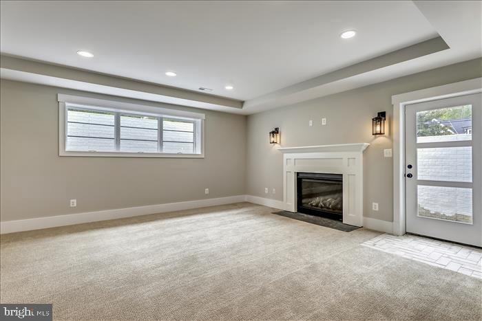 Builder's previously completed home -  Recroom - 2103 GREENWICH ST, FALLS CHURCH