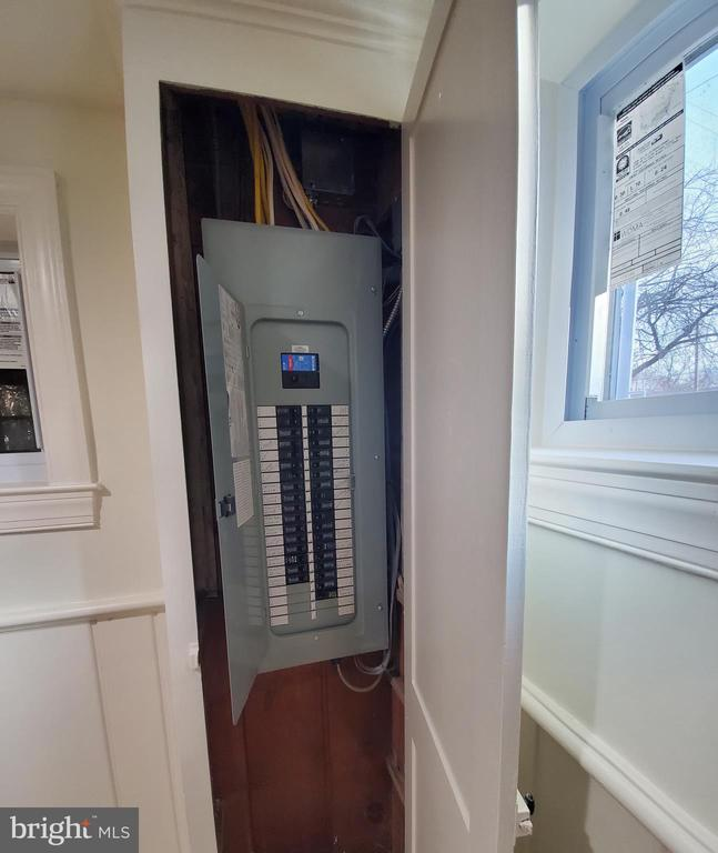 Brand New Electric Panel on Basement Level - 5710 3RD PL NW, WASHINGTON