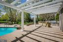 Pergola leads to the outdoor kitchen... - 11134 STEPHALEE LN, NORTH BETHESDA