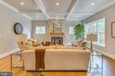 The inviting Great Room with its gas fireplace. - 11134 STEPHALEE LN, NORTH BETHESDA