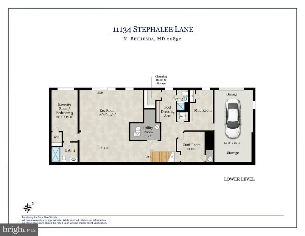 Lower level floor plan. - 11134 STEPHALEE LN, NORTH BETHESDA