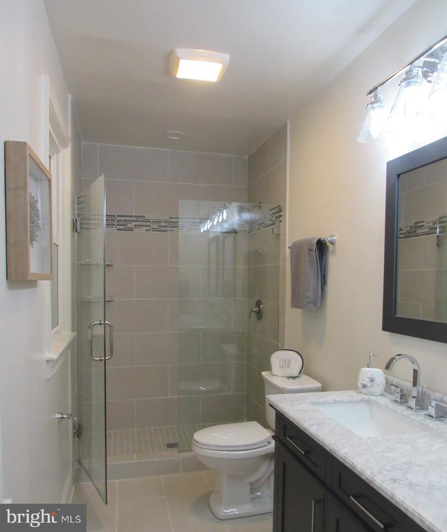 Over-sized Master Bath with Frame-less Shower Door - 5710 3RD PL NW, WASHINGTON