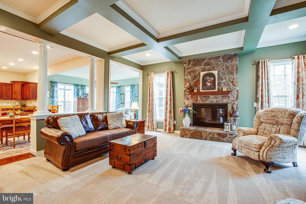 Family room - 6 SCARLET FLAX CT, STAFFORD