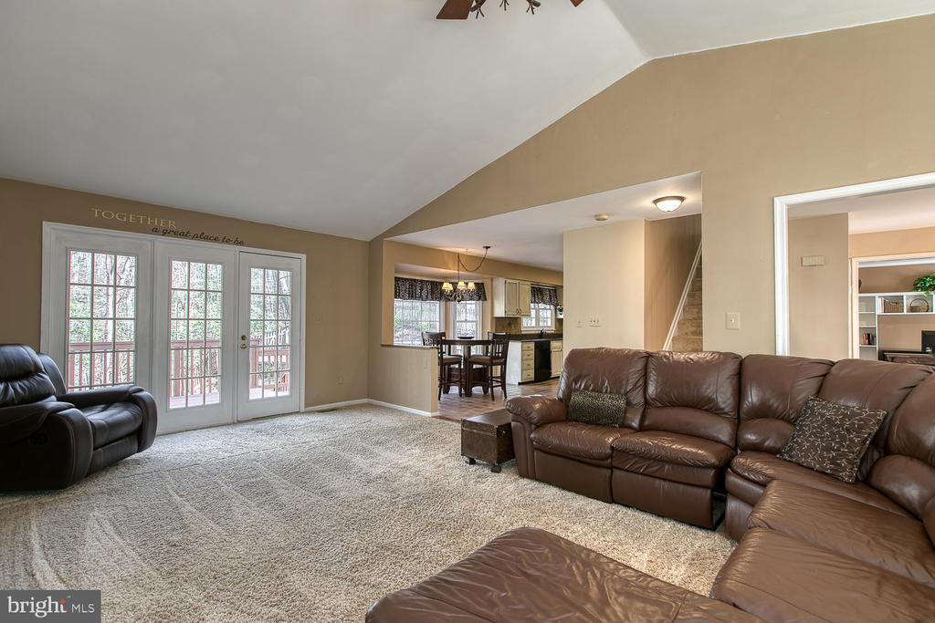 Cathedral ceiling in family room - 3220 TITANIC DR, STAFFORD