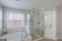 MASTER BATHROOM WITH WATER CLOSET - 91 MADELINE LN, STAFFORD