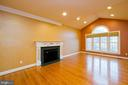 Eat-in kitchen table space w/gas fireplace - 165 UPPER RIDGE RD, WINCHESTER