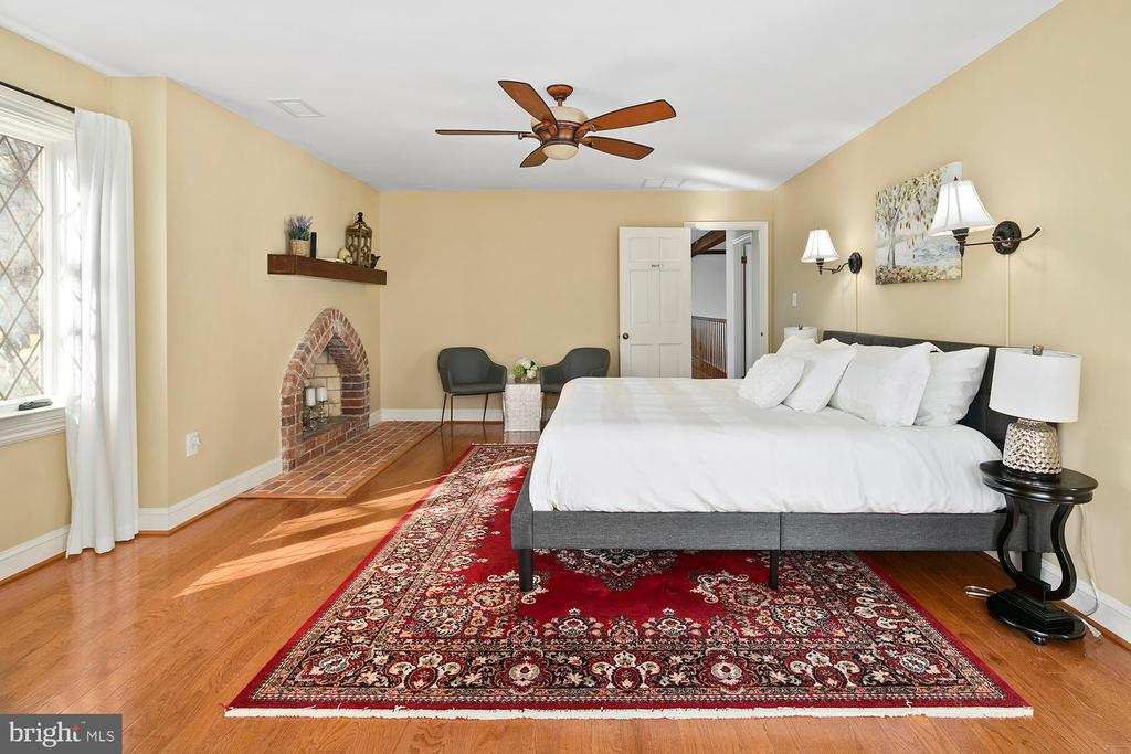 Owner suite with 3rd wood-burning fireplace - 2821 N QUEBEC ST, ARLINGTON