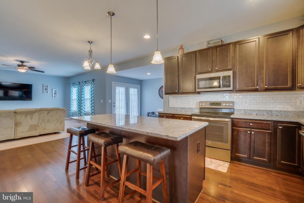 Upgraded Longer Kitchen Island with~Bar Seating - 137 GARDENIA DR, STAFFORD