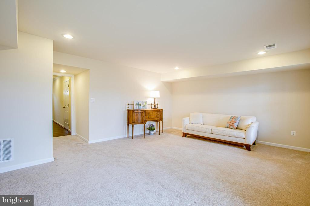 The basement rec room has plenty of space - 120 TREE LINE DR, FREDERICKSBURG