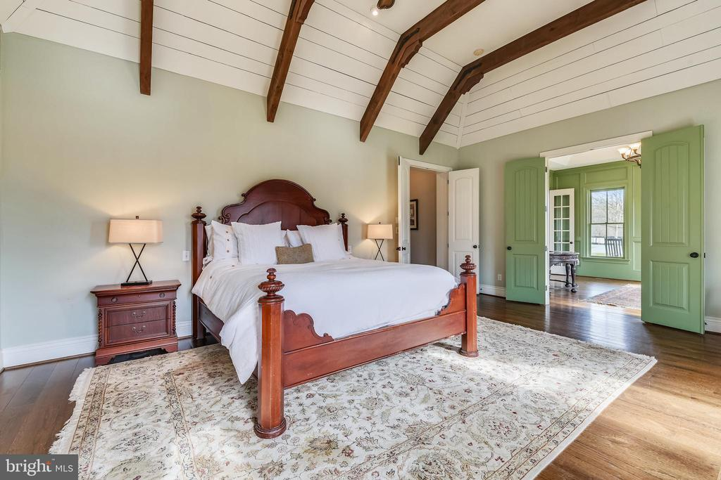 Alternate View of Master Bedroom w/Exposed Beams - 15730 OLD WATERFORD RD, PAEONIAN SPRINGS