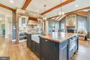 Alternate Kitchen View of Exposed Beams - 15730 OLD WATERFORD RD, PAEONIAN SPRINGS