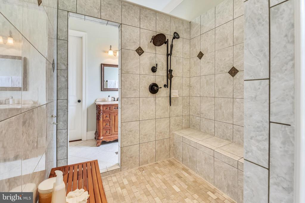 Gorgeous Walk In Shower /w/Dual Shower Heads - 15730 OLD WATERFORD RD, PAEONIAN SPRINGS