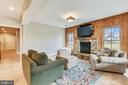 Lower Level Recreation Room w/Fireplace - 15730 OLD WATERFORD RD, PAEONIAN SPRINGS