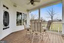 Covered Porch off of Family Room w/Gorgeous Views - 15730 OLD WATERFORD RD, PAEONIAN SPRINGS