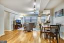 Open floorplan, bright living/dining area - 1801 CLYDESDALE PL NW #224, WASHINGTON