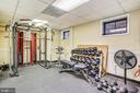Weights in workout room - 1801 CLYDESDALE PL NW #224, WASHINGTON