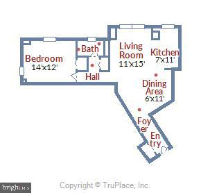 Floor plan of Unit 224 - 1801 CLYDESDALE PL NW #224, WASHINGTON