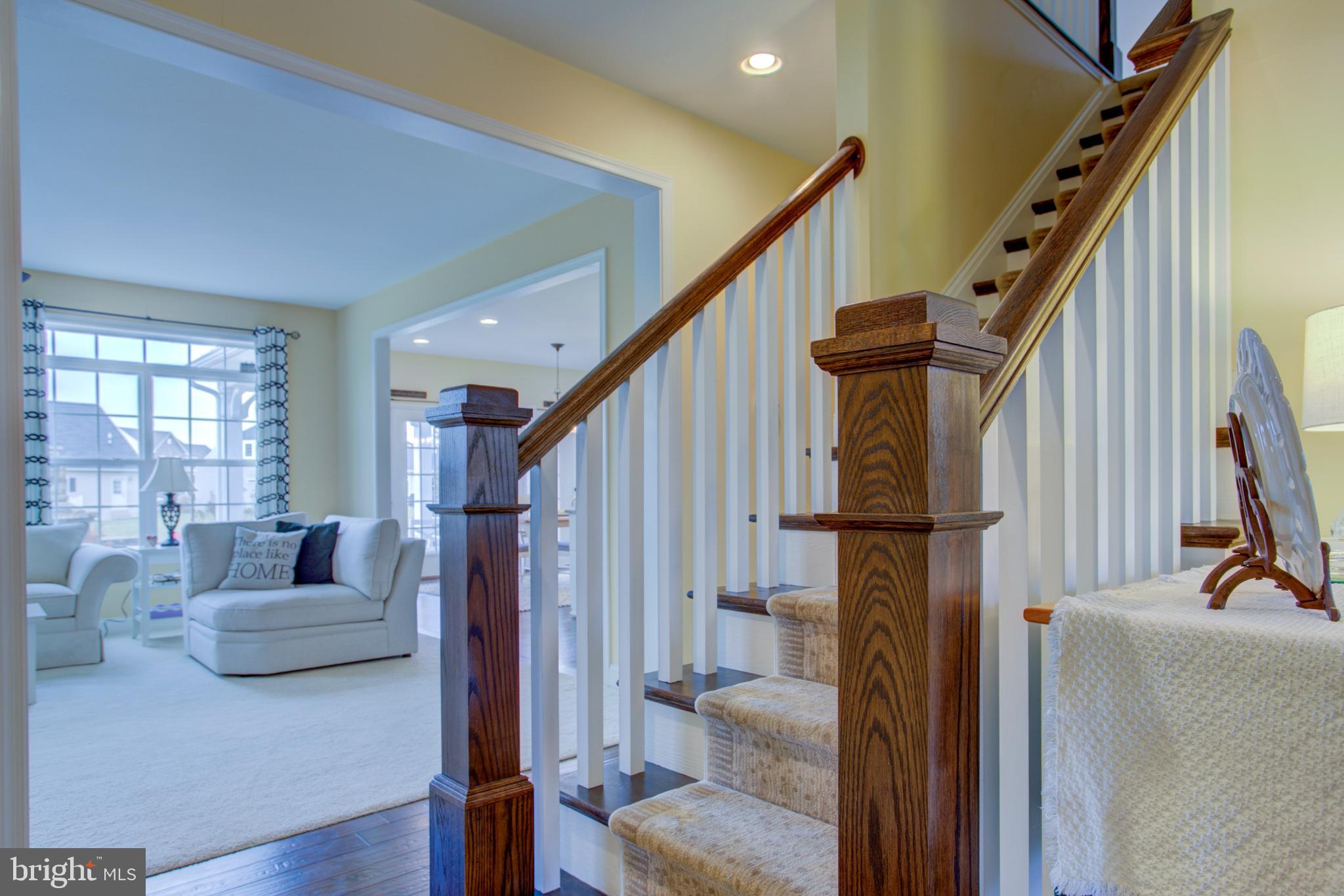 Stairwell to Family Room View