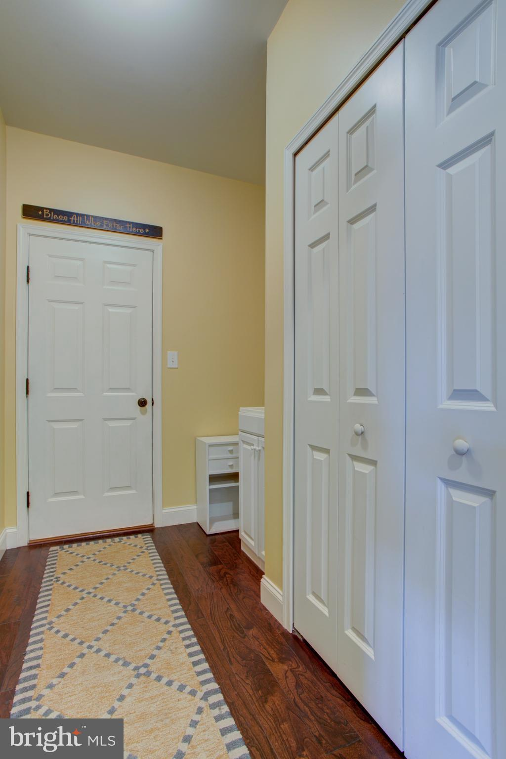 Mudroom off garage- utility sink & large closet