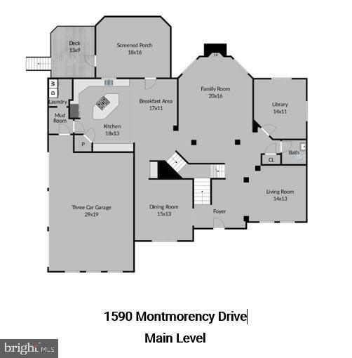Main Level Floor Plans - 1590 MONTMORENCY DR, VIENNA