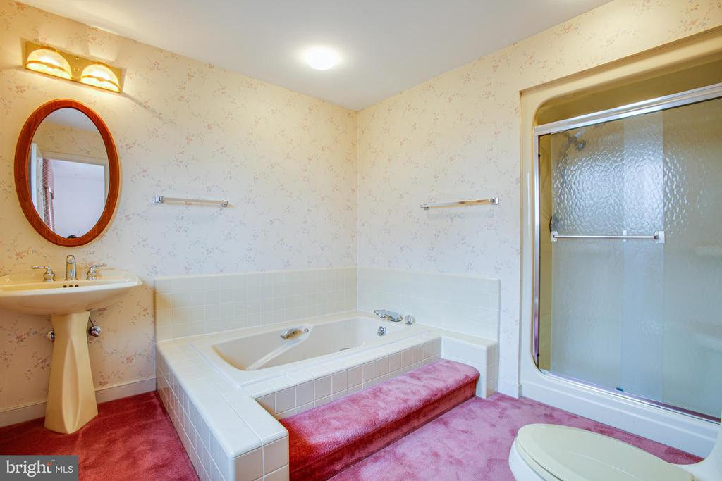MASTER BATHROOM WITH WHIRLPOOL TUB - 11315 NORTH CLUB DR, FREDERICKSBURG