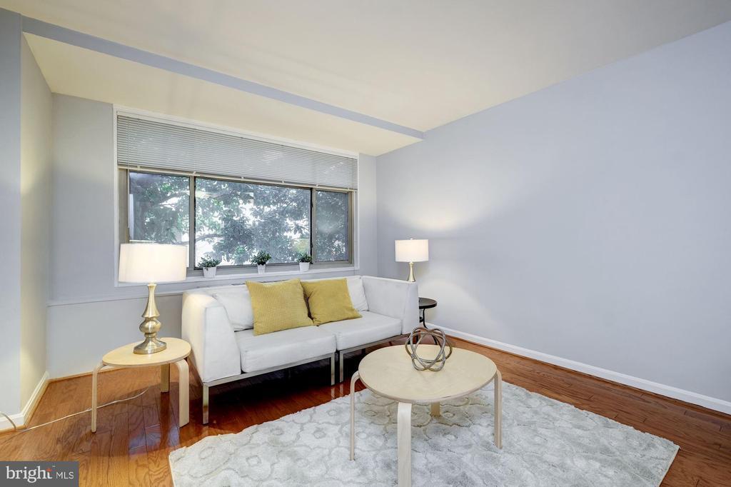 Living Room facing 24th St. - 2401 H ST NW #307, WASHINGTON