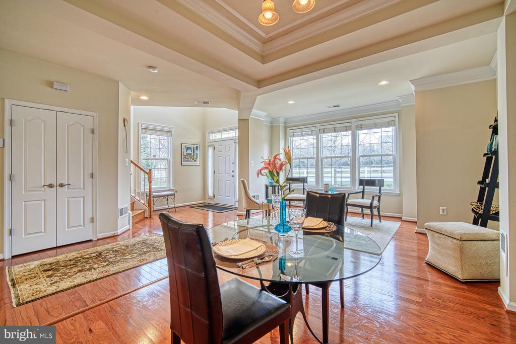 Dining room with tray ceiling and recessed light - 19348 GARDNER VIEW SQ, LEESBURG