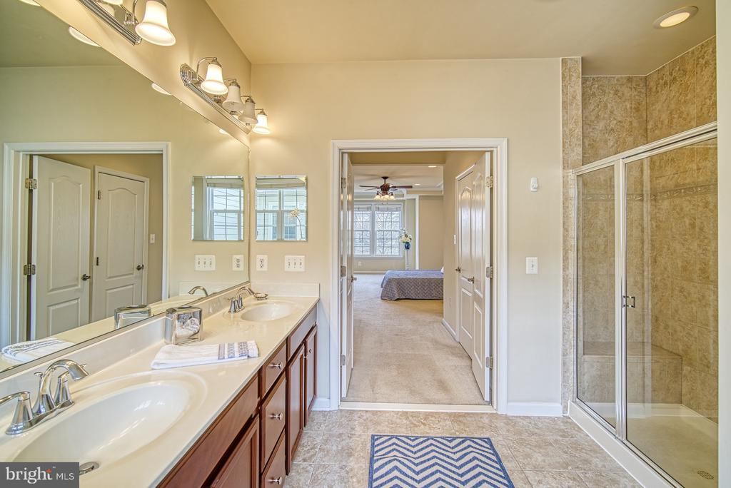 Separate shower in master bedroom - 19348 GARDNER VIEW SQ, LEESBURG