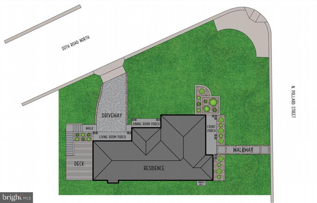 Site Plan - 3061 N POLLARD ST, ARLINGTON