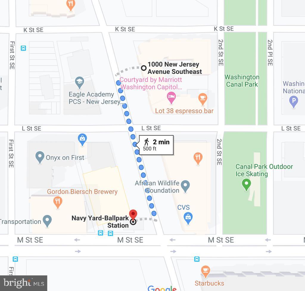 2 min walk to the Navy Yard Ballpark (Green line) - 1000 NEW JERSEY AVE SE #606, WASHINGTON