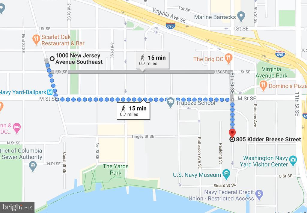 15 min walk to Washington Navy Yard - 1000 NEW JERSEY AVE SE #606, WASHINGTON