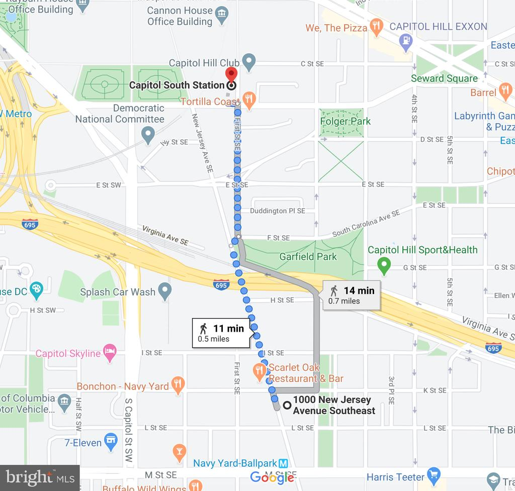 11 min walk to Cap South METRO(Orange/Silver/Blue) - 1000 NEW JERSEY AVE SE #606, WASHINGTON