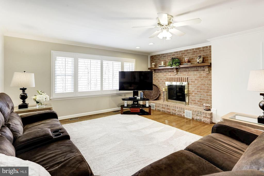 Family room with fireplace - 13701 ESWORTHY RD, GERMANTOWN