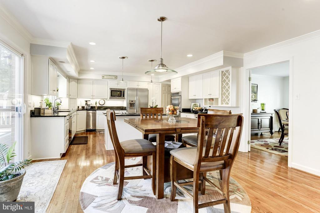 Open renovated gourmet kitchen - 13701 ESWORTHY RD, GERMANTOWN