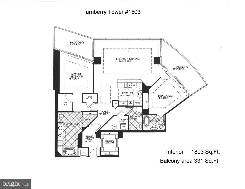 Floor plan - 1881 N NASH ST #1503, ARLINGTON