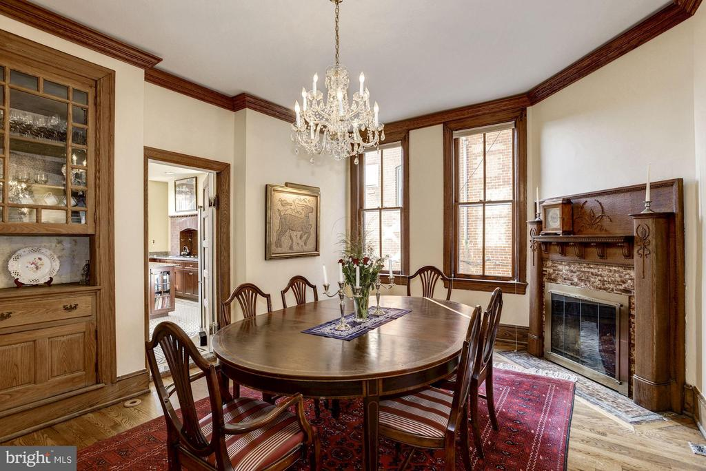 Another cozy fireplace in the dining room. - 226 8TH ST SE, WASHINGTON