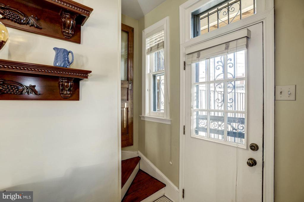A rare back staircase to the 2nd floor. - 226 8TH ST SE, WASHINGTON