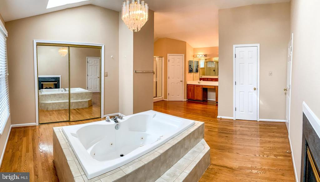 Spacious and bright master bath - 47400 GALLION FOREST CT, STERLING
